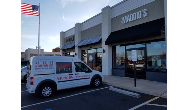 Custom Vehicle Graphics and Lettering-Uncle Maddios Pizza-Charlottesville Va